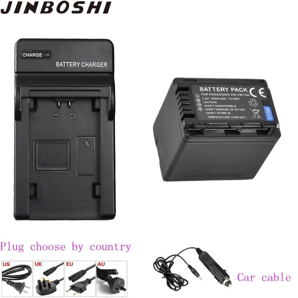 1PCS 3900mAh VW VBT380 VW VBT380 vwvbt380 Battery+Charger for Panasonic VBT380,HC V727,HC V730,HC V750,HC V757,HC V760,HC V770