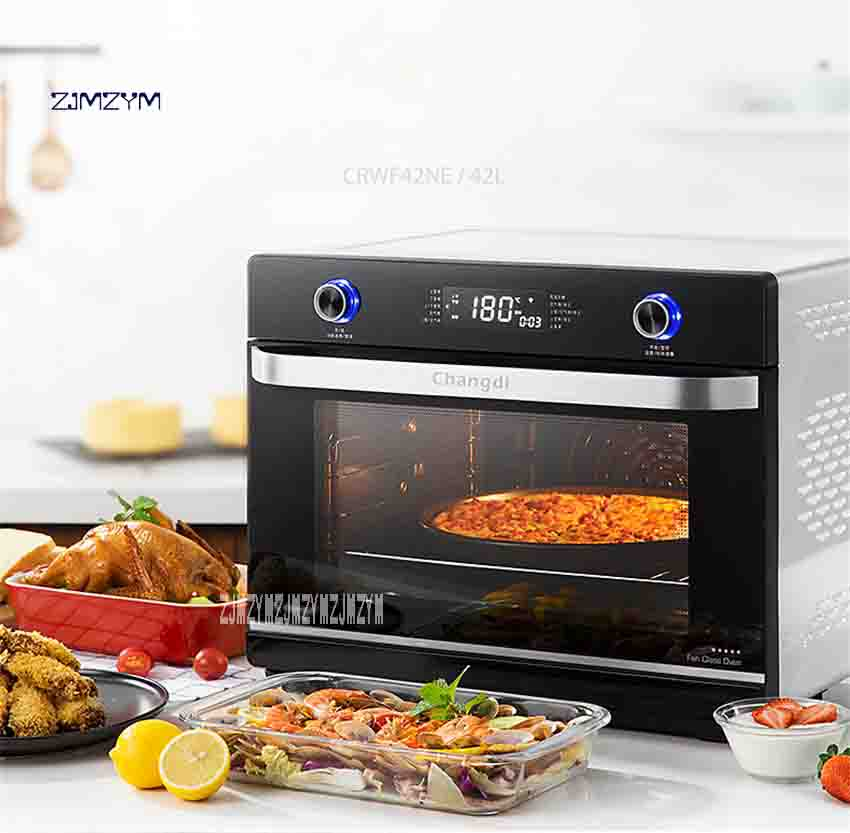 New Multi-function Automatic Intelligent Large Capacity Oven Electric CRWF42NE Oven Home Baking Oven 220V 2150W 42L Hot Selling t1 l101b home multifunction mini electric oven 10 liters home capacity double baked bit baking oven global free shipping