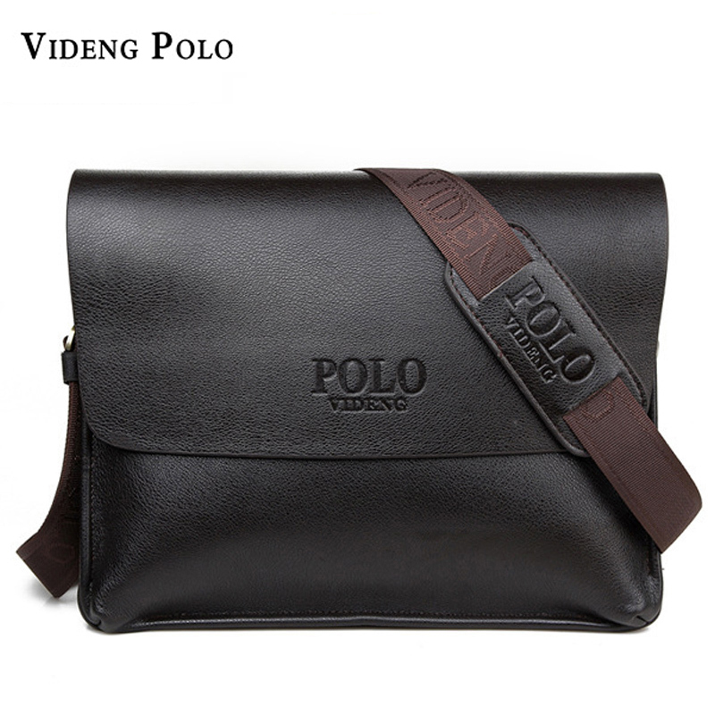 free shipping new 2017 hot sale men bags, men leather messenger bags, high quality polo bag fashion men's travel bags