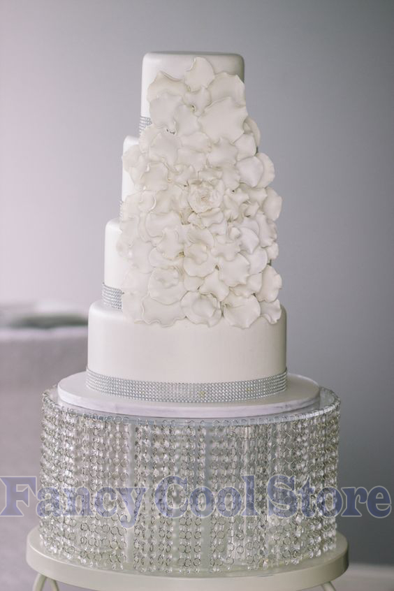 Event & Party Party Cake Holder,cupcake Display,table Centerpieces 35cm Diameter By 20cm Tall Wedding Crystal Round Cake Stand
