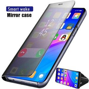 Умный зеркальный флип-чехол для телефона с прозрачным покрытием для OnePlus 7/7 Pro кожаный чехол для задней панели OnePlus7 OnePlus7Pro 7Pro 360 Защитный