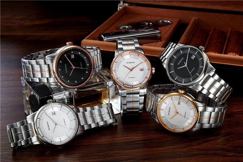 OCHSTIN montre hommes automatique montres-bracelets en acier montres de Sport automatique Date 2016 horloge hommes Relogio Masculino montre d'affaires hommes - 6