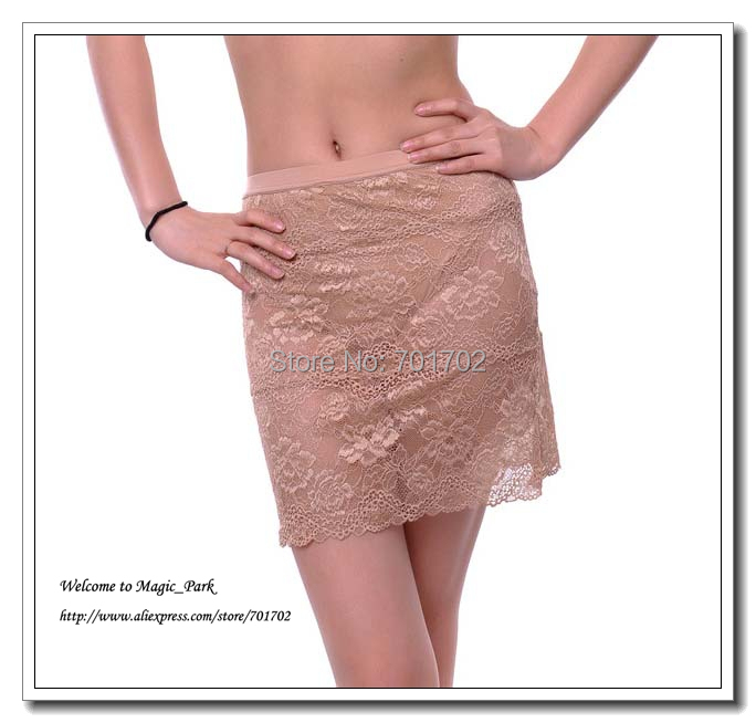 Sexy Lace Skirt For Women Ladies Above Knee Floral Skirts Dress With Panty Dobby A-Line Above Knee Hollow Out Black Beige (10).jpg