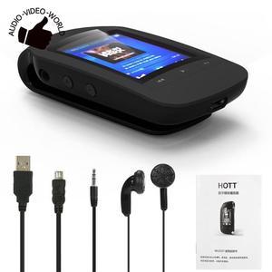 Image 4 - Портативный мини mp3 плеер HOTT 1037 с клипсой, 8 ГБ, спортивный шагомер, Bluetooth, FM радио, со слотом для tf карты, стерео музыкальный плеер с ЖК экраном 1,8