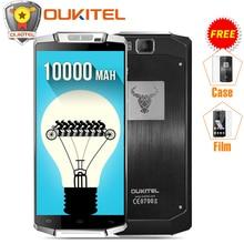 Чехол + пленка) Оригинальный Oukitel K10000 5.5 «HD 4 г мобильный телефон 10000 мАч Android 6.0 MTK6735P 4 ядра 2 ГБ Оперативная память 16 ГБ Встроенная память 8MP смартфон