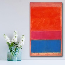 No-1-royal-red-and-blue by Mark Rothko Painting Home Decor On Canvas Modern Wall Art Poster