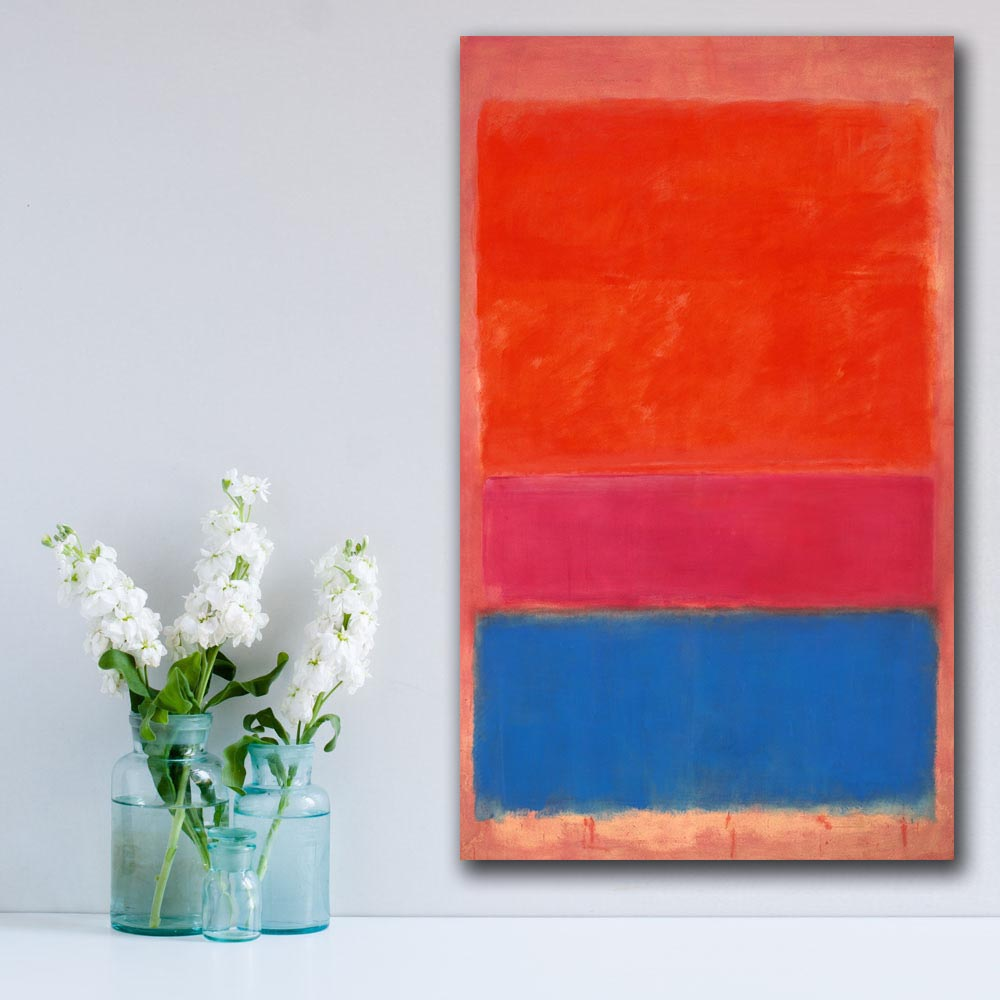No 1 royal red and blue by Mark Rothko Paiting Home Decor On Canvas Modern Wall Art Canvas Poster Canvas Painting
