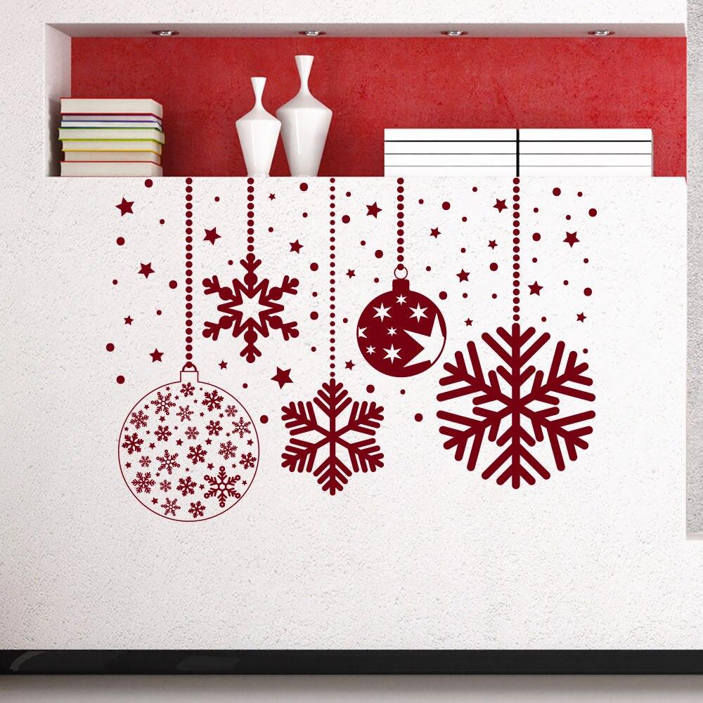 Vinyl Abnehmbare 2018 Weihnachten Schneeflocken Wandaufkleber Home ...