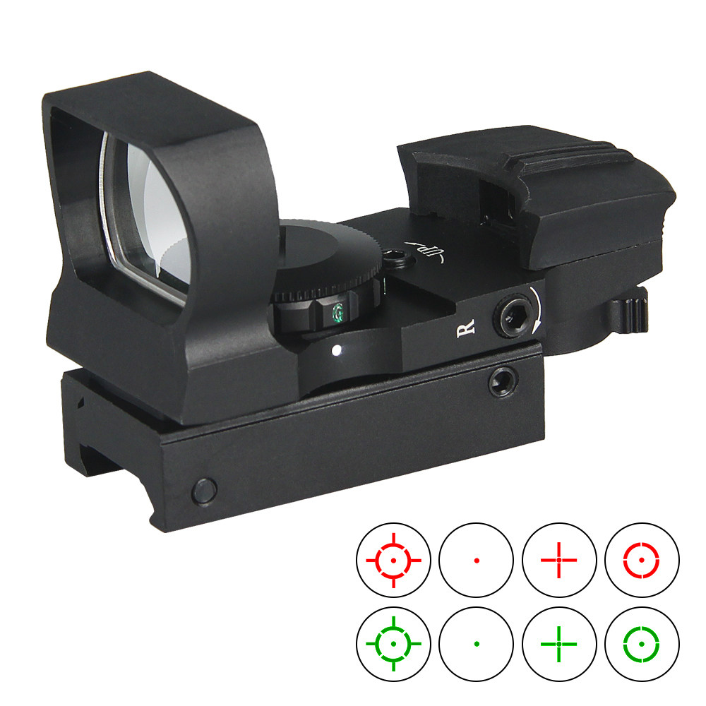 PPT New Arrival Tactical 4 Reticle Red Dot Scope Objective Diameter 24x34mm For Hunting GZ2-0062