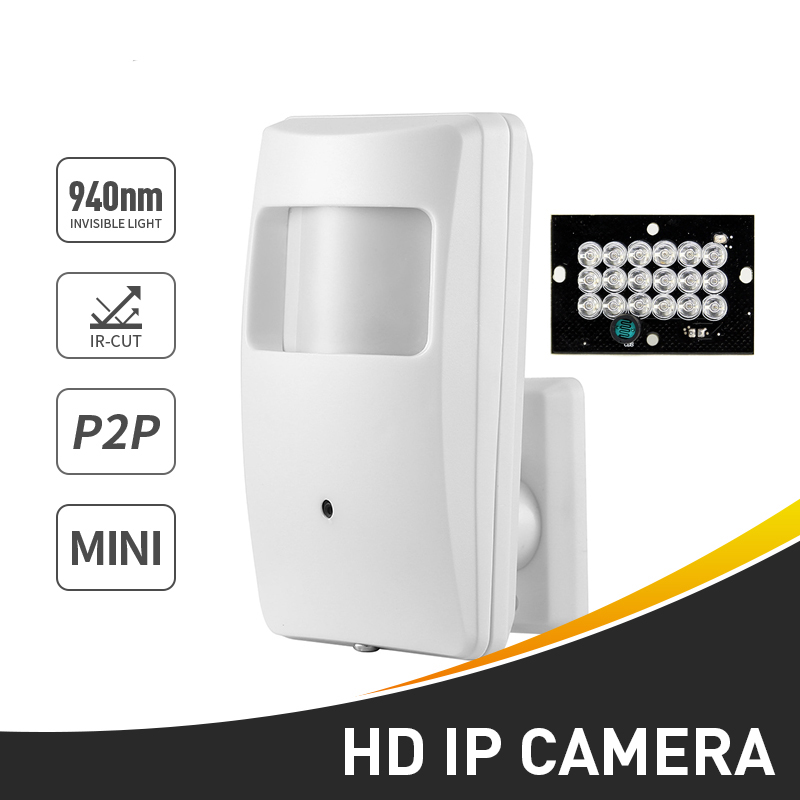 Mini IP Camera Security 3.7MM Network IP Camera Motion Detector P2P H.264 1.0 Megapxiel ONVIF