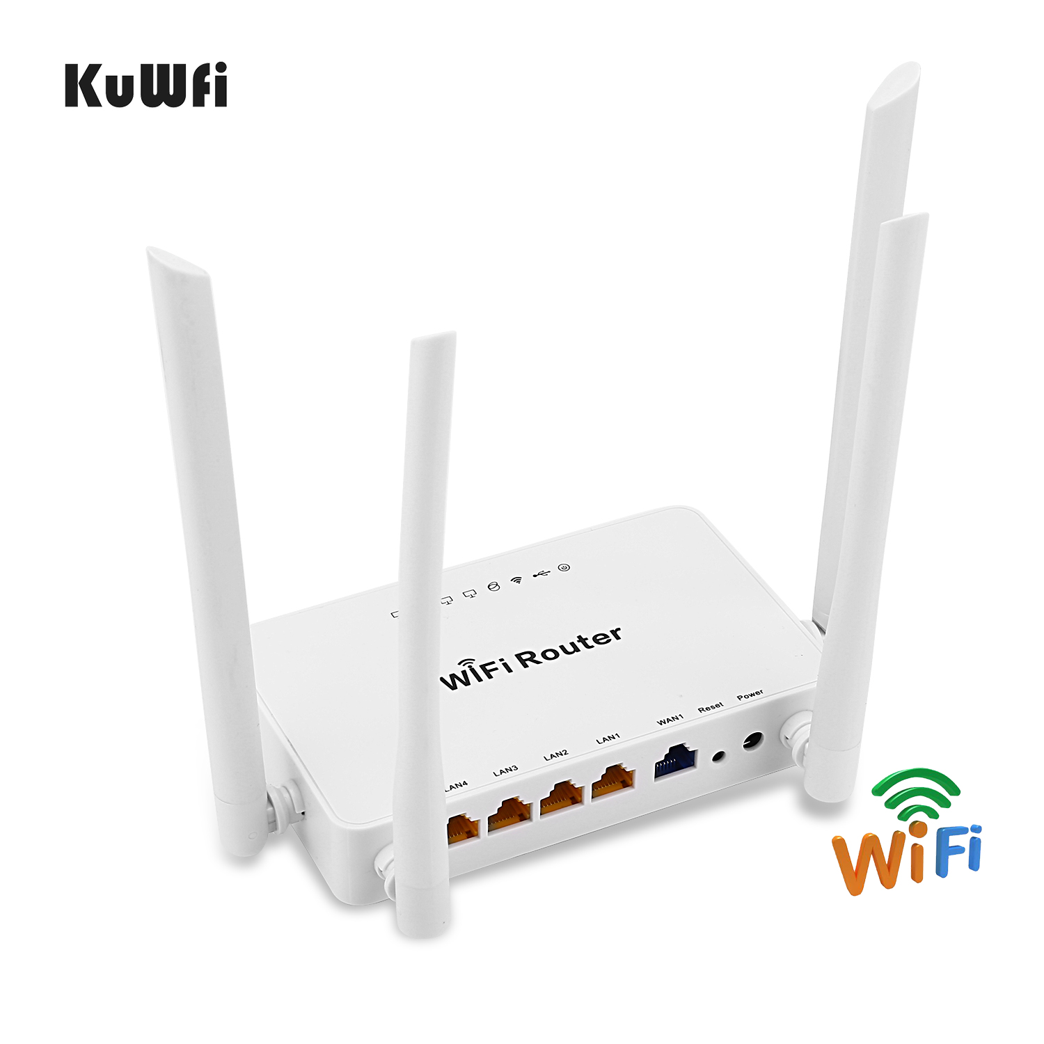 Image 3 - High power wireless Openwrt Wireless router with 4pcs 7dbi antenna,high power wireless Adapter with 14dbi antenna&5M USB cable-in Wireless Routers from Computer & Office
