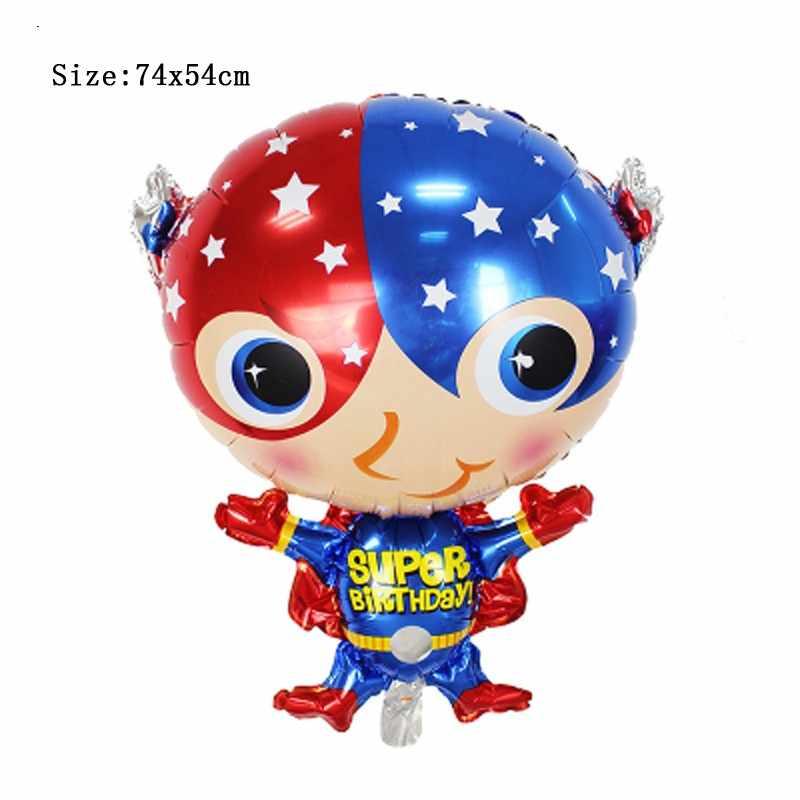 Super hero superman decoração de aniversário balão de hélio foil balões do aniversário dos miúdos das crianças do bebê dos desenhos animados infláveis