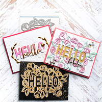 Bi fujian HELLO Rose dies Scrapbooking Metal Cutting Dies New 2018 Stencil Embossing Craft Dies Cut DIY Paper Cards Making