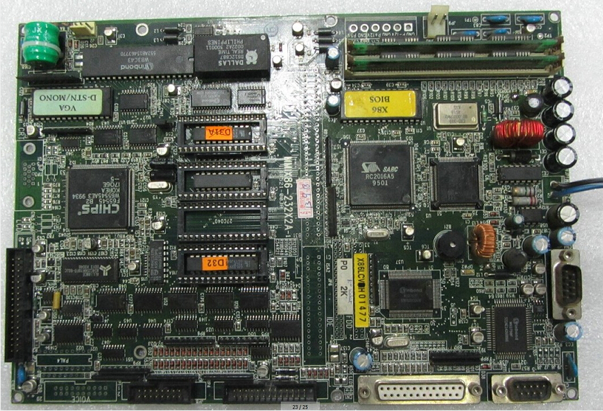 Techmation MMIX86-232X2A-1 Motherboard for industrial use new and original 100% tested ok
