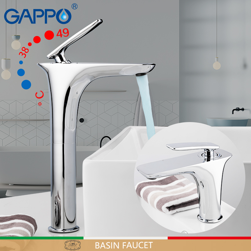 GAPPO Basin faucets bathroom thermostatic waterfall sink faucet mixer thermostatic mixers water tap bathroom faucet griferia