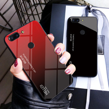 цена на For OnePlus 5 5T Case Luxury Gradient Hard Tempered Glass Silicone Frame Back Cover For One Plus 5T 5 1+5T Coque Fundas Shell