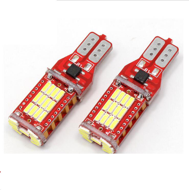 2x T15 W16W 921 High Power Car Truck Turn Singal Width 3rd Brake Light 33smd 4014 Genuine Canbus White 1000LM~1100LM