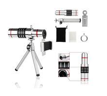 Camera Self Kit :18x Aluminum Magnifier Telephoto Lens+Cleaning Cloth+Aluminum Tripod For GALAXY S8 S7 A MINI NEO/P9 G9 Lite P10