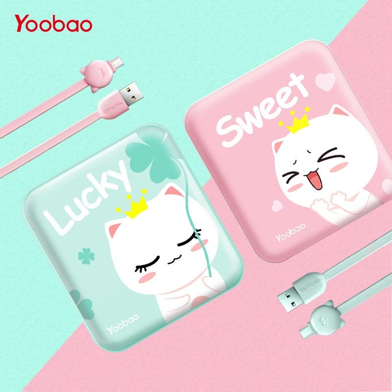 Yoobao Mignon Power Bank 10000 mah Pour Xiaomi Mi 2 USB Petit Pau Banque Mini Portable Externe Batterie PoverBank Pour oukitel Téléphone