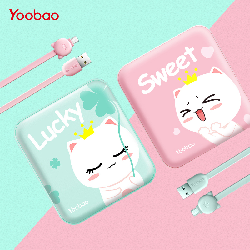 Yoobao Nette Power Bank 10000 mah Für Xiaomi Mi 2 USB Kleine Pover Bank Mini Tragbare Externe Batterie PoverBank Für oukitel Telefon