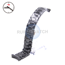 22mm Man Ceramic Watch Strap Black Color Butterfly Buckle Bracelet Ceramic Watchband for AR1410 AR1400