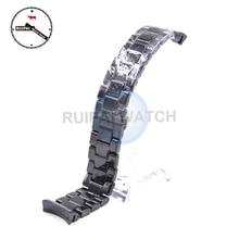 Керамический ремешок для часов AR1410 AR1400, черный ремешок для часов с пряжкой бабочкой, 22 мм