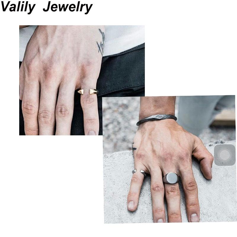 EdgLifU nieuwe heren ring beweging Vintage opening paar band ringen roestvrij staal mode Punk ring ringen voor vrouwen
