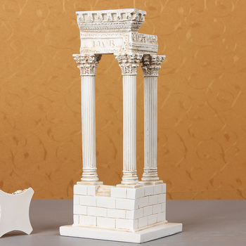 Europe Creative resin Ancient roman architectural model statue home decor crafts room decoration objects study office ornaments