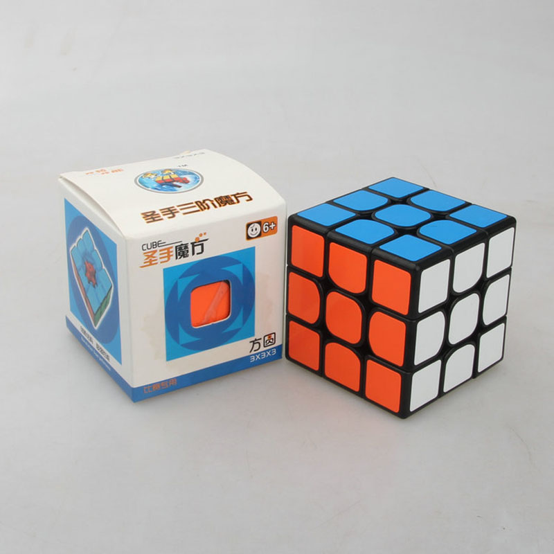 Speed Cube 3x3x3 PVC Stickers Educational Super Smooth Puzzle Cube Professional for Racing Game Kids Toy Magic Cube Toy