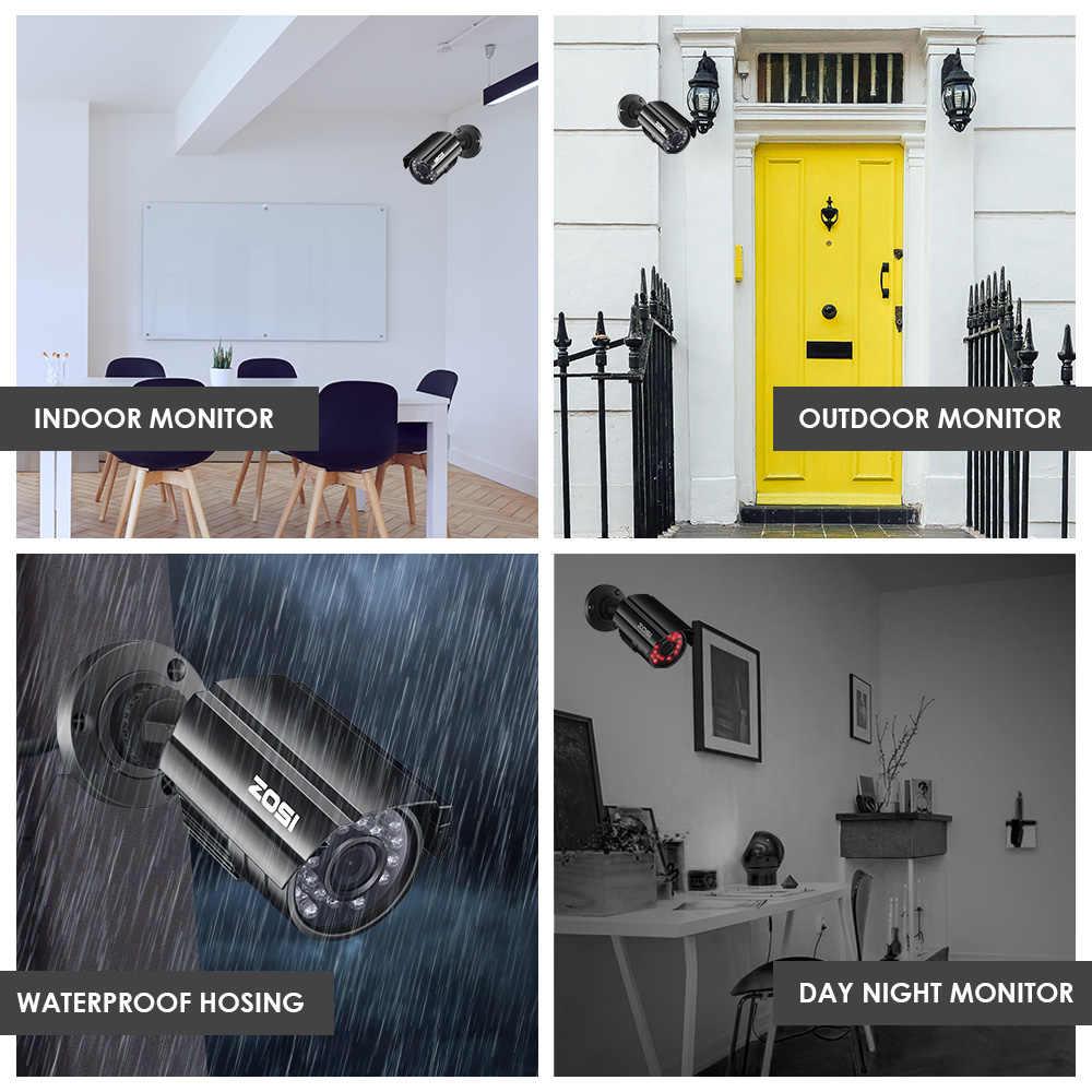 ZOSI HD CMOS 800TVL CCTV СВЕТОДИОДНАЯ камера ir Водонепроницаемая наружная/Внутренняя ночного видения 65ft цилиндрическая камера видеонаблюдения с кронштейном