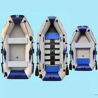 0.7MM PVC Inflatable Boat Dinghy Fishing Rowing Boat For Drifting Sufing With Aluminum Oars and Air Pump 2 3/3 4/4 5 Person