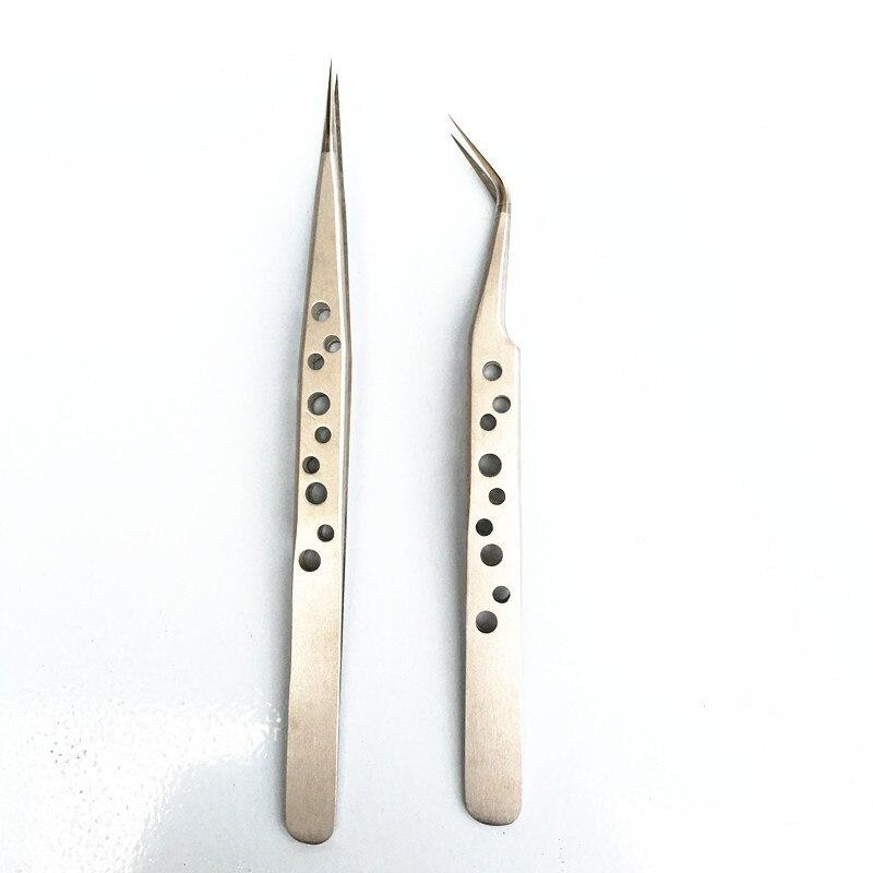 Make-up Augenbrauen Pinzette Nagaraku Hervorragende Qualität Aus Stahl Industrie Anti-statische Präzision Pinzette Wimpern Verlängerung Werkzeuge Wimpern Pinzette