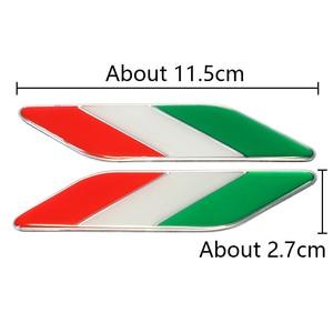 Image 4 - 1 זוג רכב רכב סטיילינג מתכת לוגו אלומיניום איטלקי דגל פגוש סמל תג מדבקת עבור פיאט אלפא רומיאו Abarth רכב אבזרים
