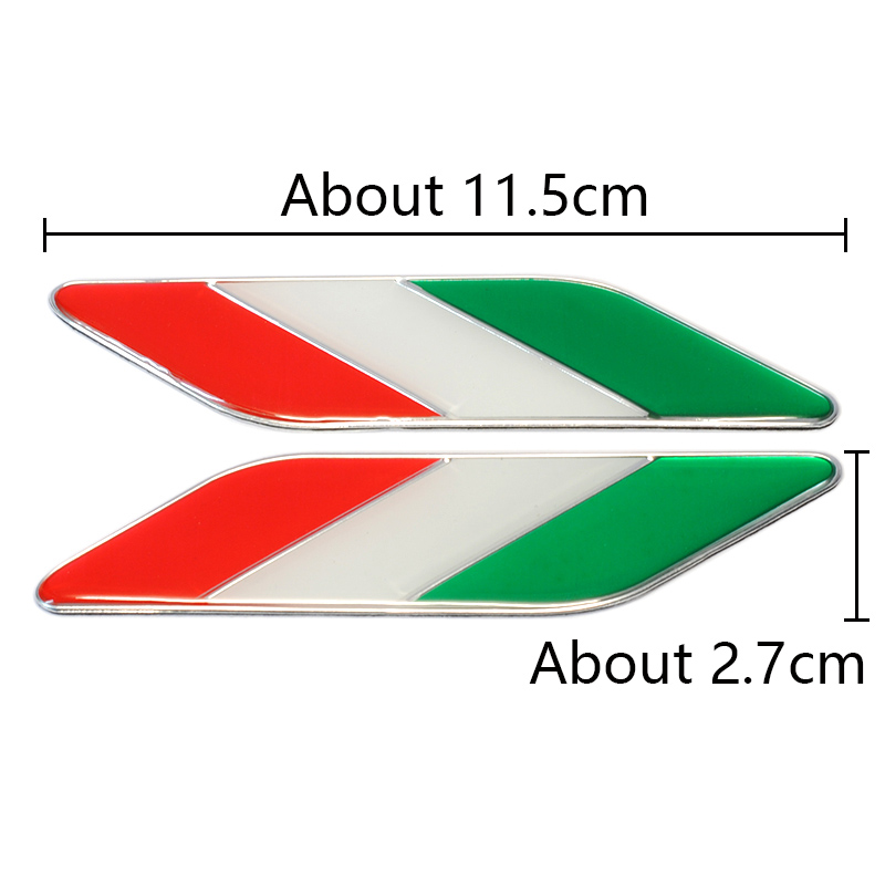Image 4 - 1pair Italy Car Styling Metal Logo Aluminum Italian Flag Fender Emblem Badge Sticker for Fiat Alfa Romeo Abarth Car Accessories-in Car Stickers from Automobiles & Motorcycles
