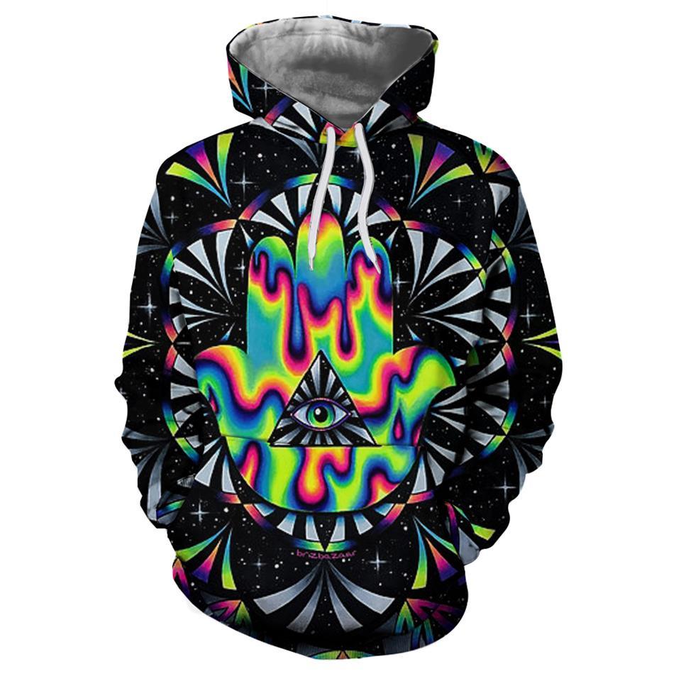 Trippy hamsa By Brizbazaar Art 3D Hoodies Men Hoodie Autumn Sweatshirt Unisex Pullover Novelty Hoodie Male Tracksuit Brand Coat hoodie