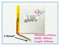 Best Battery Brand 3 7V Lithium Polymer Battery 30100105 3 7V 4000MAH Mobile Power DIY Tablet