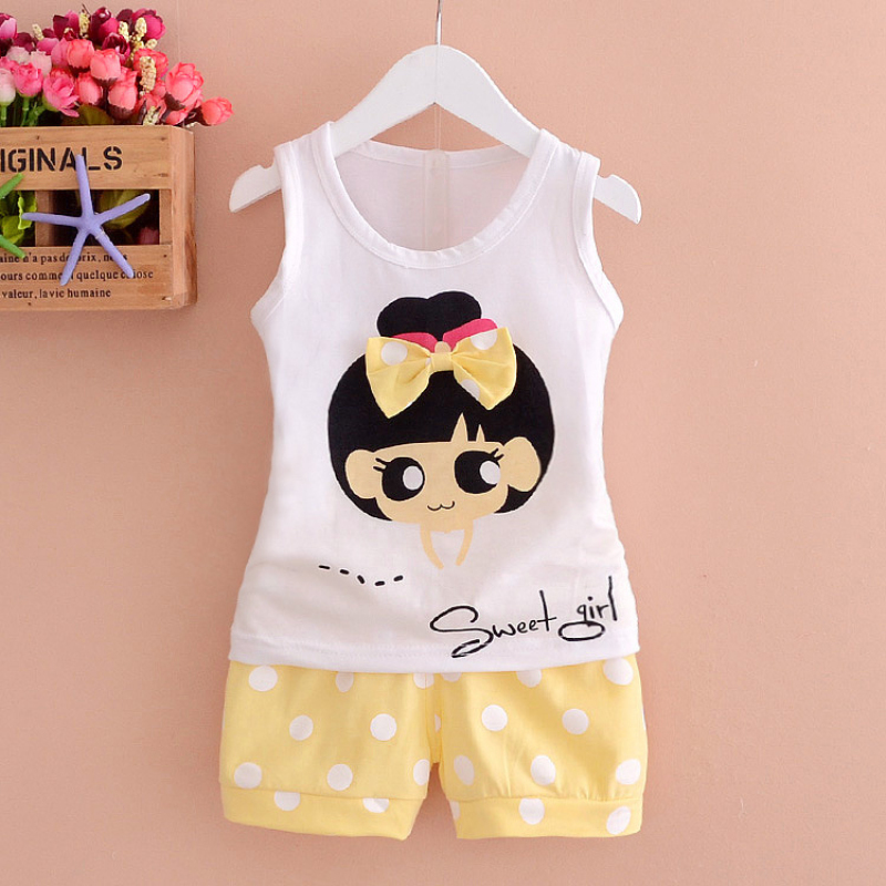 0-2Y Lolita Baby Cloth Set for Girls Photography Kids Sleeveless Tops+ Short Pant 2Pcs Sport Suits Princess Party Coat Female