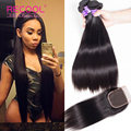 Brazilian Virgin Hair With Closure Peerless Virgin Hair Straight With Lace Closure 7A Brazilian Human Hair Bundles With Closure