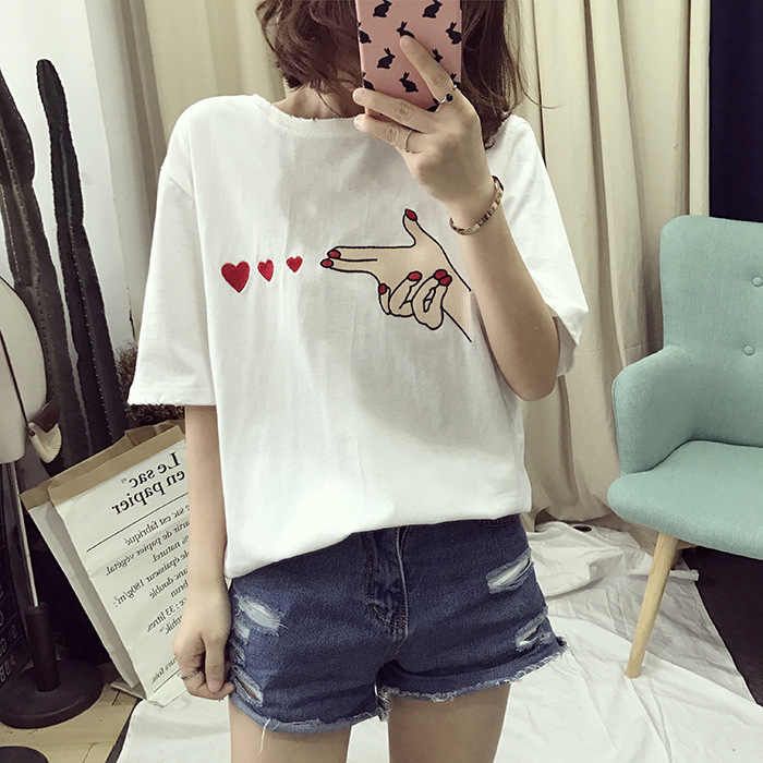 c136d587090 CPI Fashion Blusas 2019 Summer Best Friends T Shirt Korean Ulzzang Harajuku  Embroidery Short Sleeve T