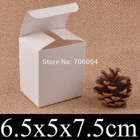 100PCS 6.5*5*7.5cm Cosmetic/Jewerly white paper box 2.6''*2''*3'' handmade gift boxes,Essential oil box,custom box logo