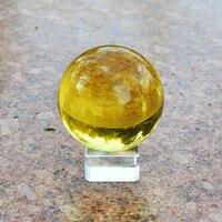 6 CM Żółty Magiczny Kryształ Szkło Healing Sphere Ball Rzemiosła Prezent feng shui azji rzadko oscylatora kwarcowego kryształy neo kule na sprzedaż