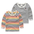 Kids stripe shirt basic 2016 spring children's clothing boys girl clothing tops child bear t-shirt