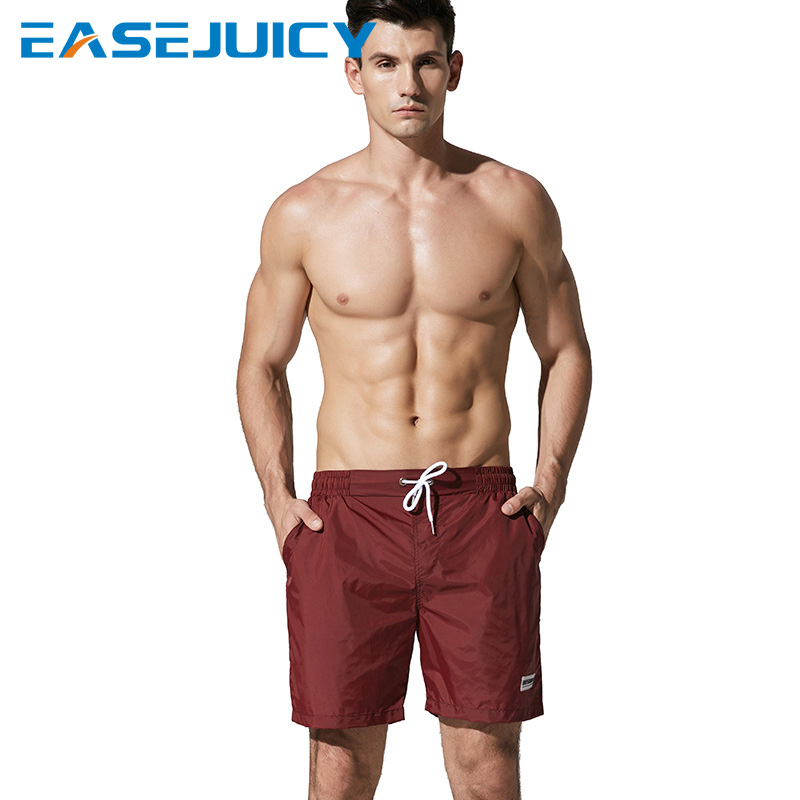 New Men's bathing suit   board     shorts   hawaiian bermudas quick dry swimwear joggers plavky briefs swimsuit beach   shorts   mesh