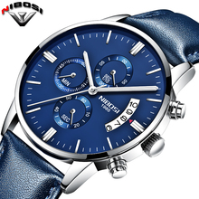 NIBOSI 2017 Fashion Watch Men Top Luxury Brand Sports Quartz-watch Leather Band Waterproof Men Casuale Relogio Masculino Saatler