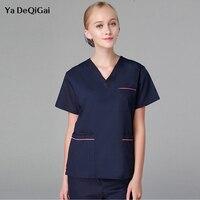 Summer medical scrubs uniforms Surgery colthing Suit V Neck Short Sleeve Dental Hospital doctors Work clothes women and men new