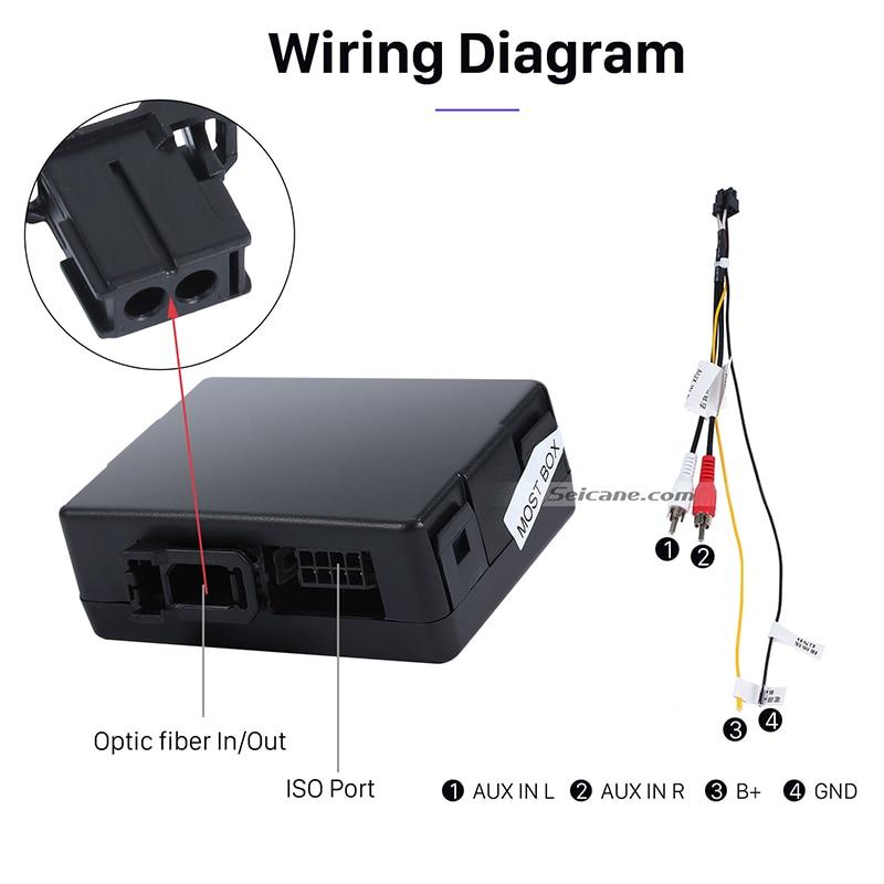 seicane car optical fiber decoder box for 2001 2008 mercedes benz g class  w463 g550 g500 g400 bose harmon kardon audio converter-in equalizers from