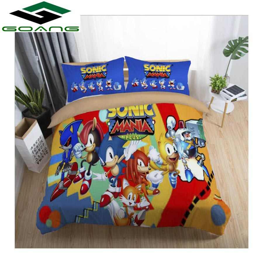 GOANG bedding set bed sheet duvet cover pillow 3d digital printing cartoon pattern kids bedding set luxury home textiles