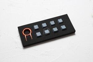 Image 3 - Zestaw gumowych klawiszy do gier taihao gumowany podwójny zestaw klawiszy Cherry MX profil oem połysk zestaw 8 magenta jasnoniebieski