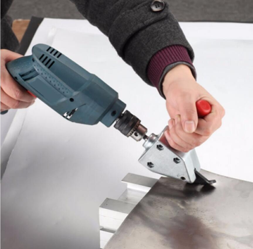 Milda New Metal Cut Nibble Metal Cutting Sheet Nibbler Saw Cutter Tool Drill Attachment Cutting Tool Power Tool Accessories Nibbler