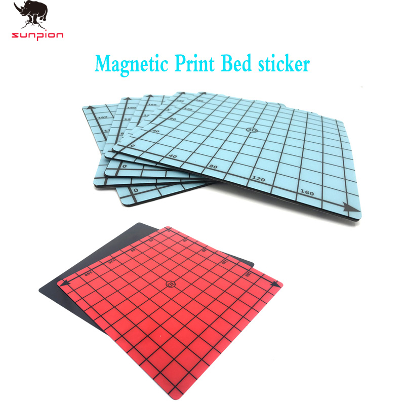 2019 New Magnetic Print Bed Tape Square 220*220mm Coordinate Printed Sticker Build Plate Tape FlexPlate PLA DIY 3D Printer Parts